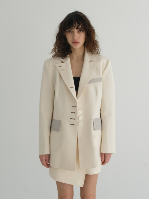 [REFURB - FINAL SALE] JAY OVERSIZED JACKET_CREAM