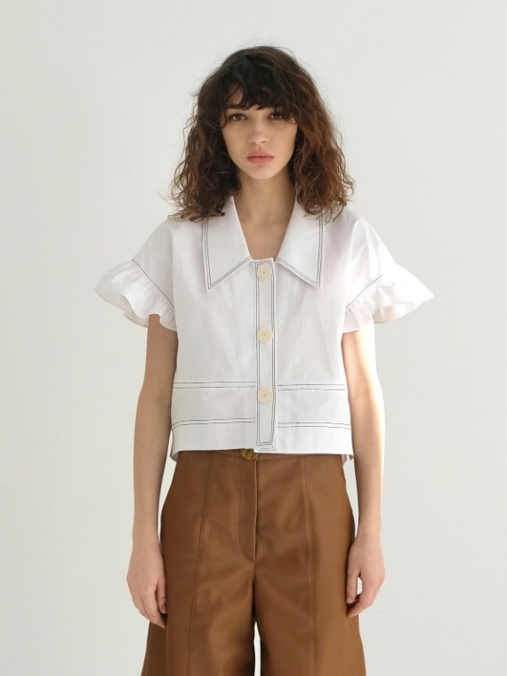 BILLIE FRILLED BLOUSE_WHITE