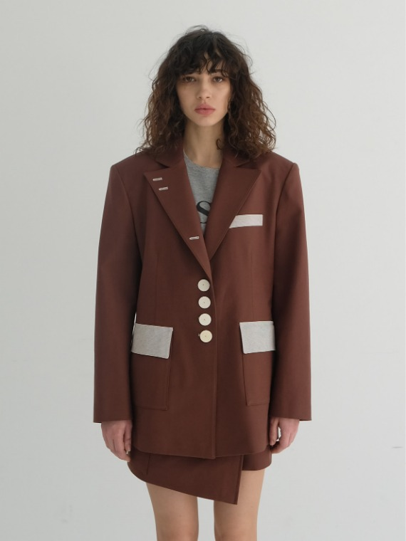 JAY OVERSIZED JACKET_CHOCOLATE
