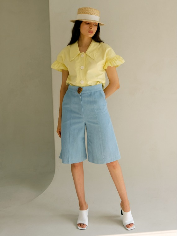 BERRY HIGHWAISTED SHORTS_LIGHT DENIM